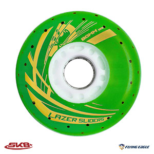 Lazer Sliders Spark Wheel Green (4pcs)