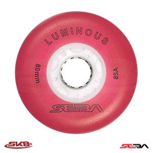 Seba Luminous wheels Red (4pcs)